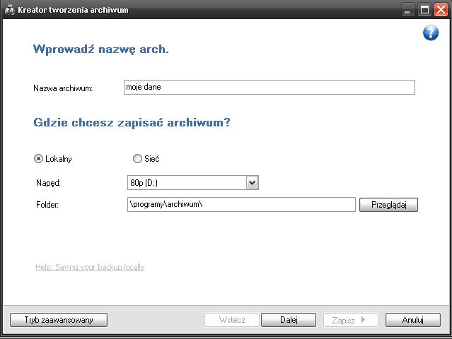 fbackup - kreator tworzenia archiwum