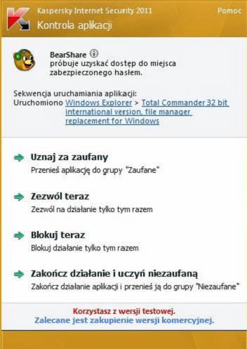 kaspersky kontrola aplikacji