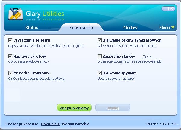Glary Utilities - konserwaca