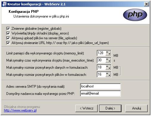 webserv-konfiguracja-php