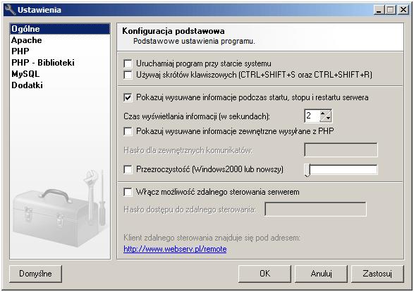 webserv-ustawienia-programu