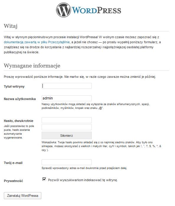 wordpress-instalacja